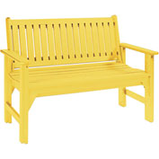"Generations Garden Bench, Yellow, 48""L x 24""W x 36""H"