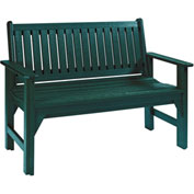 "Generations Garden Bench, Green, 46""L x 20-1/2""W x 36""H"