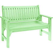 "Generations Garden Bench, Lime Green, 46""L x 20-1/2""W x 36""H"