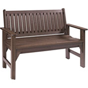 "Generations Garden Bench, Chocolate, 48""L x 24""W x 36""H"