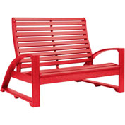 "St. Tropez Love Seat, Red, 50""L x 41""W x 38""H"