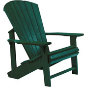 "Generations Adirondack Chair, Green, 32""L x 31""W x 40-1/2""H"