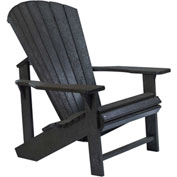 "Generations Adirondack Chair, Black, 32""L x 31""W x 40-1/2""H"