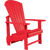 "Generations Upright Adirondack Chair, Red, 27""L x 31""W x 44""H"