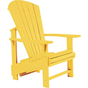 "Generations Upright Adirondack Chair, Yellow, 27""L x 31""W x 44""H"