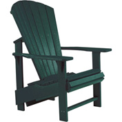 "Generations Upright Adirondack Chair, Green, 27""L x 31""W x 44""H"