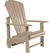 "Generations Upright Adirondack Chair, Beige, 27""L x 31""W x 44""H"