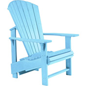 "Generations Upright Adirondack Chair, Aqua, 27""L x 31""W x 44""H"