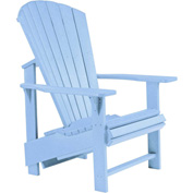 "Generations Upright Adirondack Chair, Sky Blue, 27""L x 31""W x 44""H"