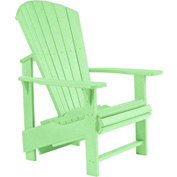 "Generations Upright Adirondack Chair, Lime Green, 27""L x 31""W x 44""H"