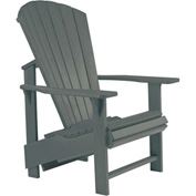 "Generations Upright Adirondack Chair, Slate, 27""L x 31""W x 44""H"