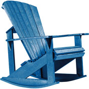 "Generations Adirondack Rocking Chair, Blue, 34""L x 24""W x 40""H"