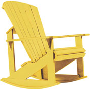 "Generations Adirondack Rocking Chair, Yellow, 34""L x 24""W x 40""H"