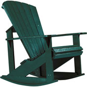 "Generations Adirondack Rocking Chair, Green, 34""L x 24""W x 40""H"