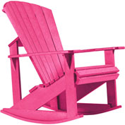 "Generations Adirondack Rocking Chair, Fuchsia, 34""L x 24""W x 40""H"