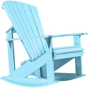 "Generations Adirondack Rocking Chair, Aqua, 34""L x 24""W x 40""H"