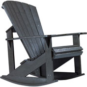 "Generations Adirondack Rocking Chair, Black, 34""L x 24""W x 40""H"