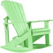 "Generations Adirondack Rocking Chair, Lime Green, 34""L x 24""W x 40""H"