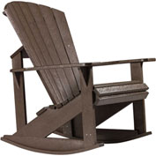 "Generations Adirondack Rocking Chair, Chocolate, 34""L x 24""W x 40""H"