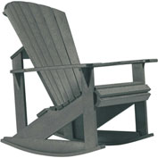 "Generations Adirondack Rocking Chair, Slate, 34""L x 24""W x 40""H"