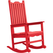 "Generations Casual Porch Rocker, Red, 31""L x 25""W x 47""H"