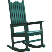 "Generations Casual Porch Rocker, Green, 31""L x 25""W x 47""H"