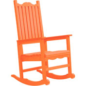"Generations Casual Porch Rocker, Orange, 31""L x 25""W x 47""H"