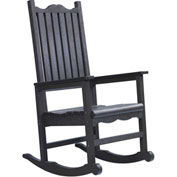 "Generations Casual Porch Rocker, Black, 31""L x 25""W x 47""H"