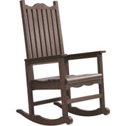 "Generations Casual Porch Rocker, Chocolate, 31""L x 25""W x 47""H"