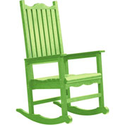 "Generations Casual Porch Rocker, Kiwi Green, 31""L x 25""W x 47""H"