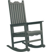 "Generations Casual Porch Rocker, Slate, 31""L x 25""W x 47""H"
