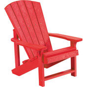 "Generations Kids Adirondack Chair, Red, 24""L x 20""W x 27""H"