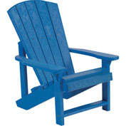 "Generations Kids Adirondack Chair, Blue, 24""L x 20""W x 27""H"