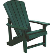 "Generations Kids Adirondack Chair, Green, 24""L x 20""W x 27""H"