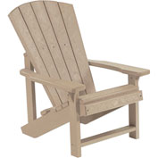 "Generations Kids Adirondack Chair, Beige, 24""L x 20""W x 27""H"