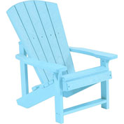 "Generations Kids Adirondack Chair, Aqua, 24""L x 20""W x 27""H"