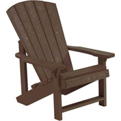"Generations Kids Adirondack Chair, Chocolate, 24""L x 20""W x 27""H"