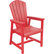"Generations Arm Dining Adirondack Style Chair, Red, 22""L x 22-1/2""W x 40""H"
