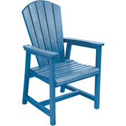 "Generations Arm Dining Adirondack Style Chair, Blue, 22""L x 22-1/2""W x 40""H"