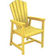 "Generations Arm Dining Adirondack Style Chair, Yellow, 22""L x 22-1/2""W x 40""H"