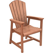 "Generations Arm Dining Adirondack Style Chair, Cedar, 22""L x 22-1/2""W x 40""H"