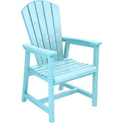 "Generations Arm Dining Adirondack Style Chair, Aqua, 22""L x 22-1/2""W x 40""H"