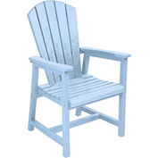 "Generations Arm Dining Adirondack Style Chair, Sky Blue, 22""L x 22-1/2""W x 40""H"