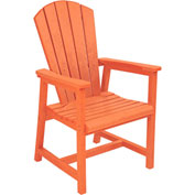 "Generations Arm Dining Adirondack Style Chair, Orange, 22""L x 22-1/2""W x 40""H"
