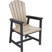 "Generations Arm Dining Adirondack Style Chair, Beige/Black, 22""L x 22-1/2""W x 40""H"