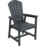 "Generations Arm Dining Adirondack Style Chair, Black, 22""L x 22-1/2""W x 40""H"