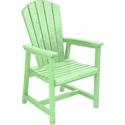 "Generations Arm Dining Adirondack Style Chair, Lime Green, 22""L x 22-1/2""W x 40""H"