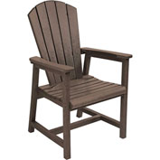 "Generations Arm Dining Adirondack Style Chair, Chocolate, 22""L x 22-1/2""W x 40""H"