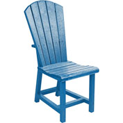"Generations Dining Adirondack Style Side Chair, Blue, 19""L x 17""W x 40""H"