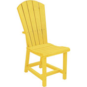 "Generations Dining Adirondack Style Side Chair, Yellow, 19""L x 17""W x 40""H"